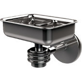 Satellite Orbit One Wall Mounted Soap Dish with Dotted Accents, Polished Chrome