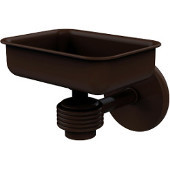 Satellite Orbit One Wall Mounted Soap Dish with Groovy Accents, Antique Bronze