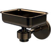 Satellite Orbit One Wall Mounted Soap Dish with Groovy Accents, Brushed Bronze