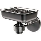 Satellite Orbit One Wall Mounted Soap Dish with Groovy Accents, Polished Chrome