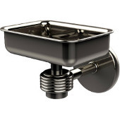 Satellite Orbit One Wall Mounted Soap Dish with Groovy Accents, Polished Nickel