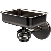 Satellite Orbit One Wall Mounted Soap Dish with Groovy Accents, Satin Nickel