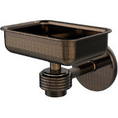Satellite Orbit One Wall Mounted Soap Dish with Groovy Accents, Venetian Bronze