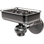 Satellite Orbit One Wall Mounted Soap Dish with Twisted Accents, Polished Chrome