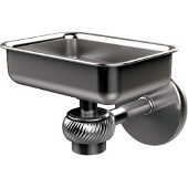 Satellite Orbit One Wall Mounted Soap Dish with Twisted Accents, Satin Chrome