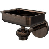 Satellite Orbit One Wall Mounted Soap Dish with Twisted Accents, Venetian Bronze