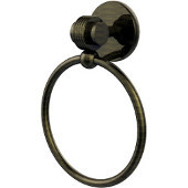 Satellite Orbit Two Collection Towel Ring with Groovy Accent, Antique Bronze