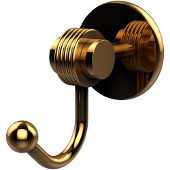 Satellite Orbit Two Collection Robe Hook with Groovy Accents, Polished Brass