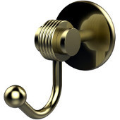 Satellite Orbit Two Collection Robe Hook with Groovy Accents, Satin Brass
