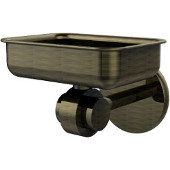 Satellite Orbit Two Collection Soap Dish with Glass Liner, Premium Finish, Antique Brass