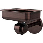 Satellite Orbit Two Collection Soap Dish with Glass Liner, Premium Finish, Antique Copper