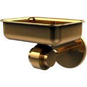 Satellite Orbit Two Collection Soap Dish with Glass Liner, Standard Finish, Polished Brass