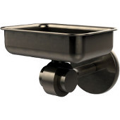 Satellite Orbit Two Collection Soap Dish with Glass Liner, Premium Finish, Antique Pewter
