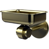 Satellite Orbit Two Collection Soap Dish with Glass Liner, Premium Finish, Satin Brass