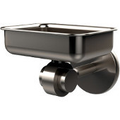 Satellite Orbit Two Collection Soap Dish with Glass Liner, Premium Finish, Satin Nickel