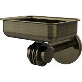 Satellite Orbit Two Collection Wall Mounted Soap Dish with Dotted Accents, Antique Brass