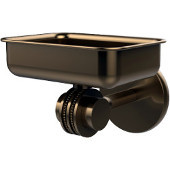 Satellite Orbit Two Collection Wall Mounted Soap Dish with Dotted Accents, Brushed Bronze