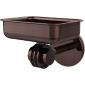 Satellite Orbit Two Collection Wall Mounted Soap Dish with Dotted Accents, Antique Copper