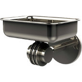 Satellite Orbit Two Collection Wall Mounted Soap Dish with Dotted Accents, Polished Nickel
