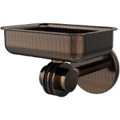 Satellite Orbit Two Collection Wall Mounted Soap Dish with Dotted Accents, Venetian Bronze