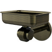 Satellite Orbit Two Collection Wall Mounted Soap Dish with Groovy Accents, Antique Brass