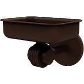 Satellite Orbit Two Collection Wall Mounted Soap Dish with Groovy Accents, Antique Bronze