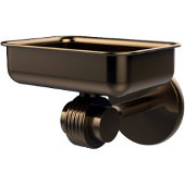 Satellite Orbit Two Collection Wall Mounted Soap Dish with Groovy Accents, Brushed Bronze