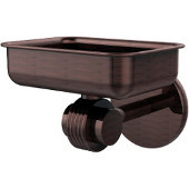 Satellite Orbit Two Collection Wall Mounted Soap Dish with Groovy Accents, Antique Copper
