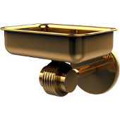 Satellite Orbit Two Collection Wall Mounted Soap Dish with Groovy Accents, Polished Brass