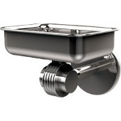 Satellite Orbit Two Collection Wall Mounted Soap Dish with Groovy Accents, Polished Chrome