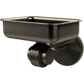 Satellite Orbit Two Collection Wall Mounted Soap Dish with Groovy Accents, Antique Pewter