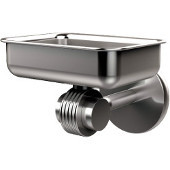 Satellite Orbit Two Collection Wall Mounted Soap Dish with Groovy Accents, Satin Chrome