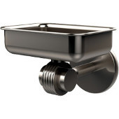 Satellite Orbit Two Collection Wall Mounted Soap Dish with Groovy Accents, Satin Nickel