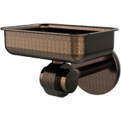 Satellite Orbit Two Collection Wall Mounted Soap Dish with Groovy Accents, Venetian Bronze