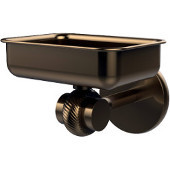 Satellite Orbit Two Collection Wall Mounted Soap Dish with Twisted Accents, Brushed Bronze