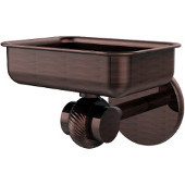 Satellite Orbit Two Collection Wall Mounted Soap Dish with Twisted Accents, Antique Copper