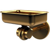 Satellite Orbit Two Collection Wall Mounted Soap Dish with Twisted Accents, Unlacquered Brass