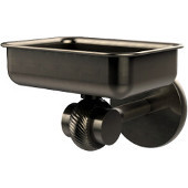 Satellite Orbit Two Collection Wall Mounted Soap Dish with Twisted Accents, Antique Pewter