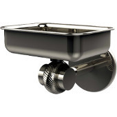 Satellite Orbit Two Collection Wall Mounted Soap Dish with Twisted Accents, Polished Nickel