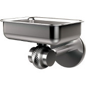 Satellite Orbit Two Collection Wall Mounted Soap Dish with Twisted Accents, Satin Chrome
