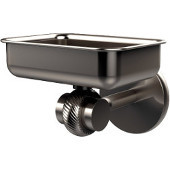 Satellite Orbit Two Collection Wall Mounted Soap Dish with Twisted Accents, Satin Nickel