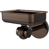 Satellite Orbit Two Collection Wall Mounted Soap Dish with Twisted Accents, Venetian Bronze