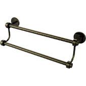 Satellite Orbit Two 38-1/2 Inch Double Towel Bar, Antique Brass