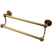 Satellite Orbit Two 32-1/2 Inch Double Towel Bar, Polished Brass