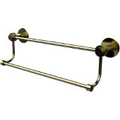 Mercury Collection 36 Inch Double Towel Bar with Dotted Accents, Satin BrassSatin BrassSatin Brass