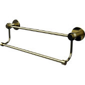 Mercury Collection 30 Inch Double Towel Bar with Groovy Accents, Satin Brass