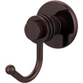 Mercury Collection Robe Hook with Dotted Accents, Antique Copper