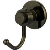 Mercury Collection Robe Hook with Groovy Accents, Antique Brass