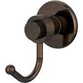Mercury Collection Robe Hook with Groovy Accents, Venetian Bronze
