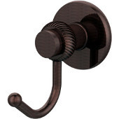 Mercury Collection Robe Hook with Twisted Accents, Antique Copper